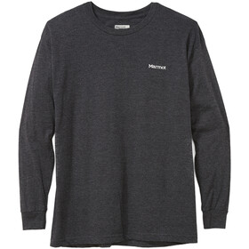 Marmot Cervin Camiseta Manga Larga Hombre, charcoal heather
